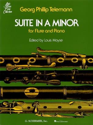 Suite En la Mineur - Flûte et Piano TELEMANN Partition laflutedepan