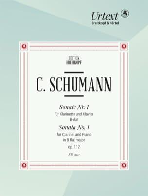 Sonate n° 1 - Clarinette et Piano Camillo Schumann laflutedepan