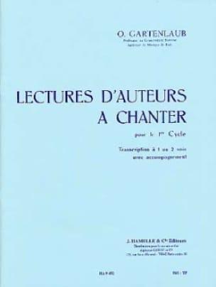 Lectures d'auteurs à chanter - 1er Cycle - laflutedepan.com