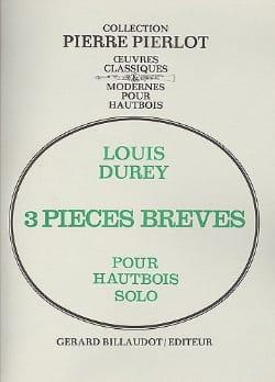 3 Pièces brèves Louis Durey Partition Hautbois - laflutedepan