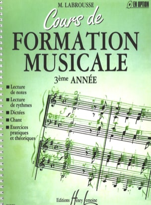 Marguerite Labrousse - Musical Training Course - Volume 3 - Partition - di-arezzo.co.uk