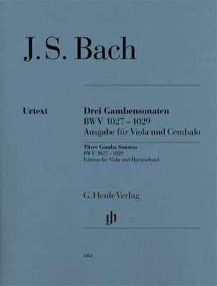 Trois Sonates pour viole de gambe et clavecin BWV 1027-1029 laflutedepan