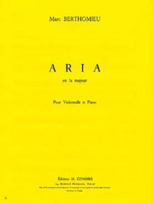 Aria - Marc Berthomieu - Partition - Violoncelle - laflutedepan.com