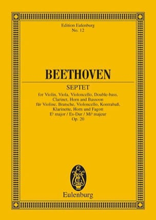 BEETHOVEN - Septuor In E B Shift, Op. 20 - Conductor - Partition - di-arezzo.es