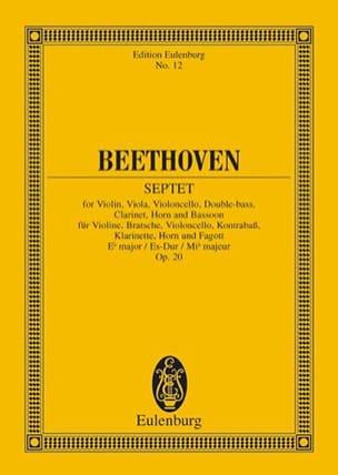 Septuor En Mi B Maj., Op. 20 - Conducteur BEETHOVEN laflutedepan