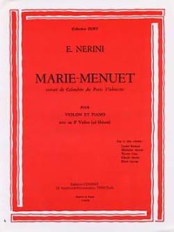 Marie-Menuet Emmanuel Nerini Partition Violon - laflutedepan