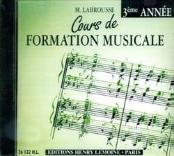 CD - Cours de Formation Musicale Volume 3 laflutedepan