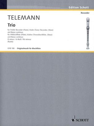 Trio d-moll - Alblockflöte Violine Bc TELEMANN Partition laflutedepan