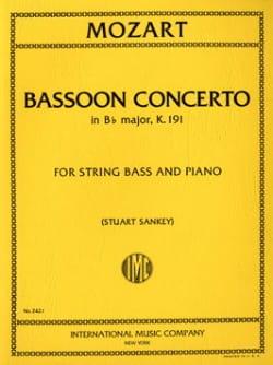 Concerto In B Flat Maj. Kv 191 Transcrit Pour Contrebasse laflutedepan