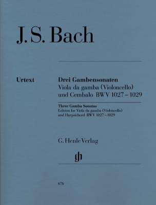 Trois Sonates pour viole de gambe BWV 1027-1029 BACH laflutedepan
