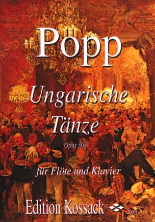 Ungarische Tänze op. 308 Wilhelm Popp Partition laflutedepan