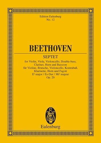 Septuor En Mi B Maj., Op. 20 - Conducteur - laflutedepan.com