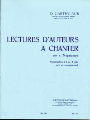 Lectures d'auteurs à chanter - Préparatoire - laflutedepan.com