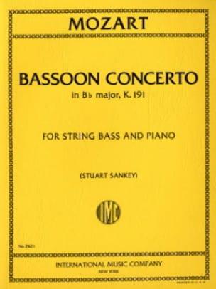 Concerto In B Flat Maj. Kv 191 Transcrit Pour Contrebasse - laflutedepan.com