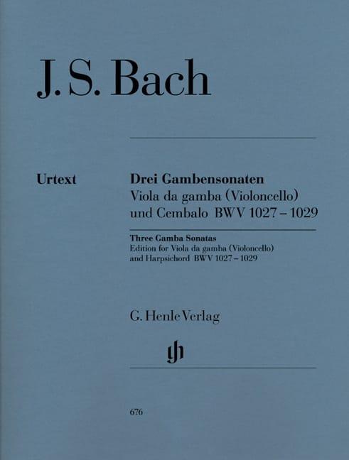 Trois Sonates pour viole de gambe BWV 1027-1029 - laflutedepan.com