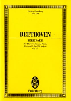 Serenade D-Dur, Op. 25 BEETHOVEN Partition Petit format - laflutedepan