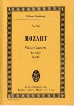 Violin-Konzert B-Dur KV 207 - Partitur - MOZART - laflutedepan.com