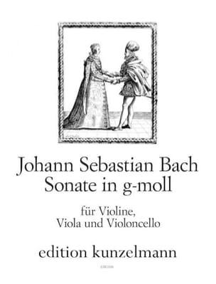 Sonate g-moll - Vl Va Vl - Stimmen BACH Partition Trios - laflutedepan