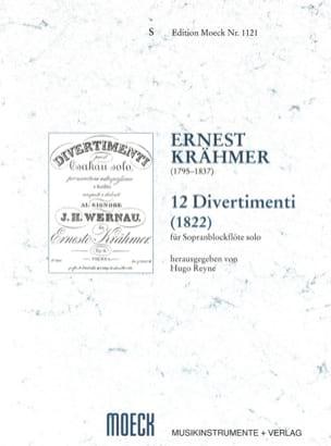 12 Divertimenti 1822 Ernest Krähmer Partition laflutedepan