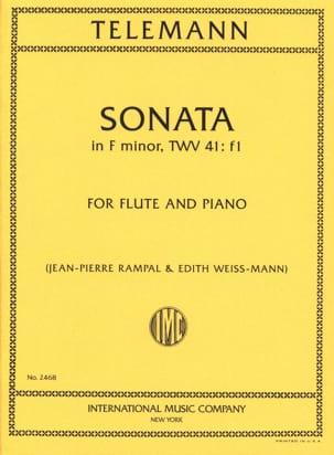 Sonata in F minor - Flute piano TELEMANN Partition laflutedepan
