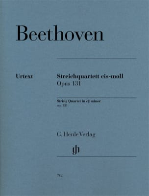 BEETHOVEN - String quartet in C sharp minor op. 131 - Partition - di-arezzo.com