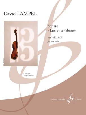 Sonate Lux et Tenebrae David Lampel Partition Alto - laflutedepan