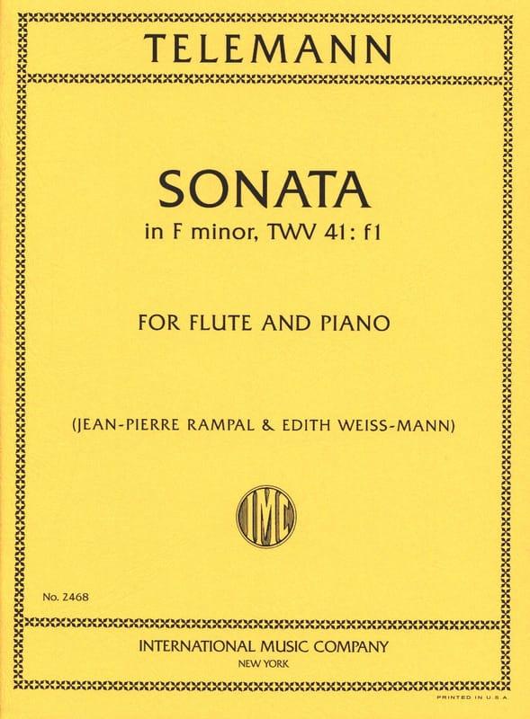 Sonata in F minor - Flute piano - TELEMANN - laflutedepan.com