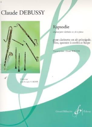 Rapsodie - Partition + Parties - DEBUSSY - laflutedepan.com