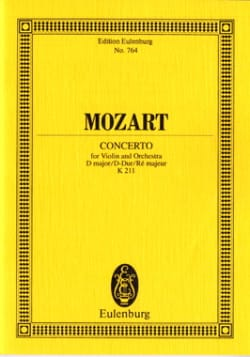 Violin-Konzert D-Dur KV 211 - Partitur - MOZART - laflutedepan.com