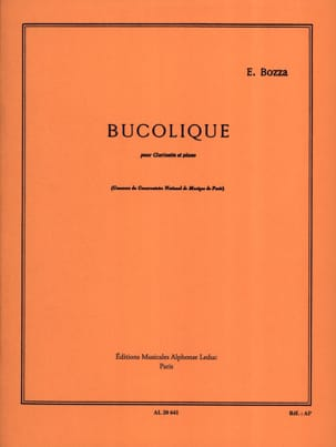 Bucolique Eugène Bozza Partition Clarinette - laflutedepan