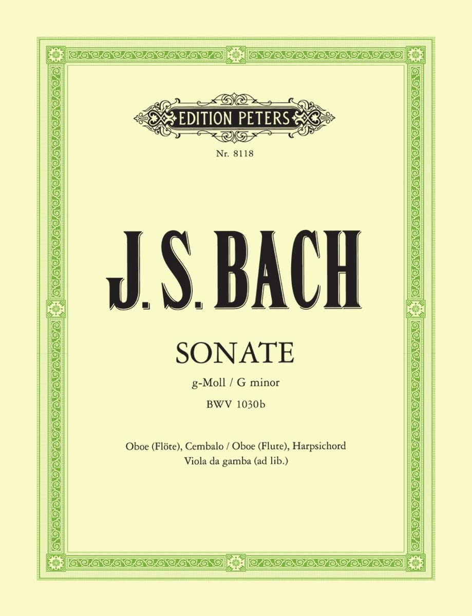 Sonate g-moll BWV 1030b - Oboe Flöte Bc - BACH - laflutedepan.com