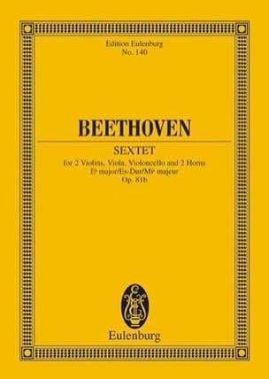 Sextett Es-Dur, op. 81b Es-Dur - BEETHOVEN - laflutedepan.com