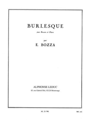 Burlesque Eugène Bozza Partition Basson - laflutedepan