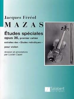 Etudes spéciales op. 36 MAZAS Partition Violon - laflutedepan