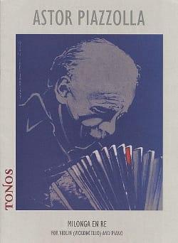 Milonga en Re Astor Piazzolla Partition Violon - laflutedepan