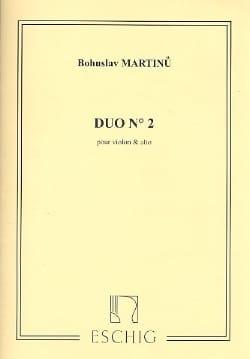 Duo n° 2 - Violon alto MARTINU Partition 0 - laflutedepan