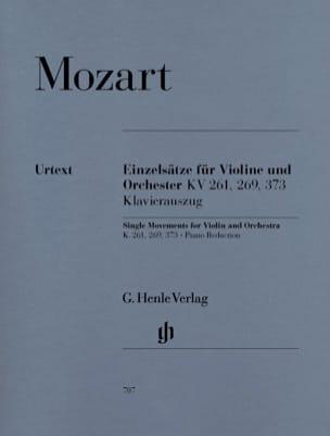 Mouvements séparés pour violon et orchestre KV 261, 269 et 373 laflutedepan