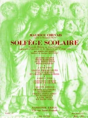 Solfège scolaire - Volume 2 - Maurice Chevais - laflutedepan.com
