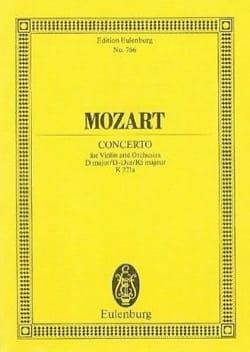 Violin-Konzert D-Dur KV 271a - MOZART - Partition - laflutedepan.com