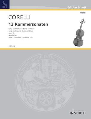 12 Kammersonaten Op. 2 Vol.3 CORELLI Partition Trios - laflutedepan