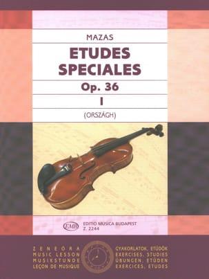 Etudes spéciales, op. 36 n° 1 MAZAS Partition Violon - laflutedepan