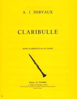 Claribulle André-Jean Dervaux Partition Clarinette - laflutedepan