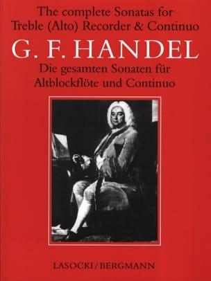 Complete Sonatas - Alto Recorder And Bc HAENDEL Partition laflutedepan