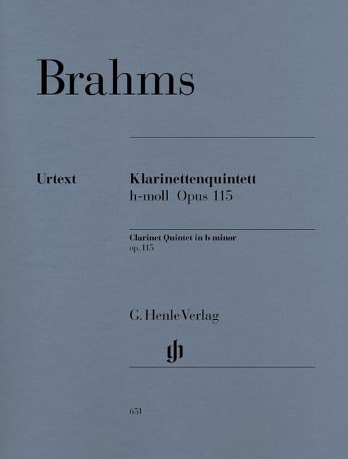 Quintette avec clarinette en si mineur op. 115 - laflutedepan.com