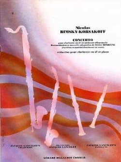 Concerto pourclarinette RIMSKY-KORSAKOV Partition laflutedepan