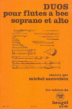 Duos pour Flûtes à Bec Soprano et Alto Partition laflutedepan