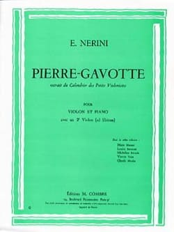Pierre-Gavotte Emmanuel Nerini Partition Violon - laflutedepan