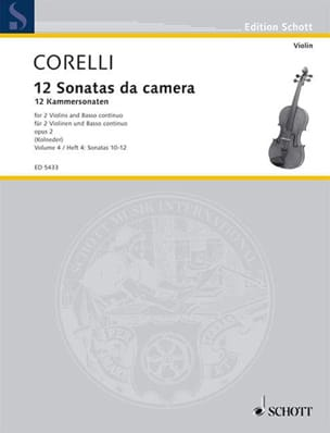 12 Kammersonaten op. 2 - Bd. 4 : Nr. 10-12 -2 Violinen u. Bc - laflutedepan.com