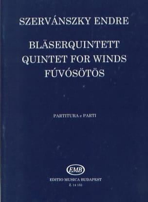 Bläserquintett -Partitur + Stimmen Endre Szervanszky laflutedepan