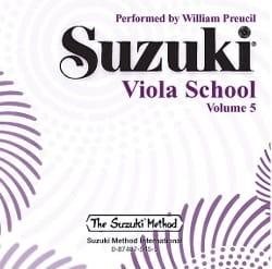 Viola School Volume 5 - CD SUZUKI Partition Alto - laflutedepan